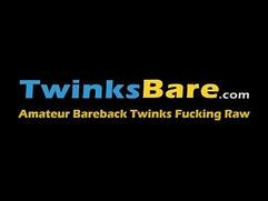 Dominant twink spanking and slamming his sub bareback style
