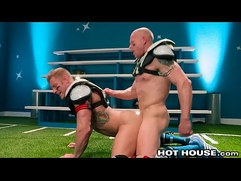 HotHouse Daddy Analized On The Field By Muscle Football Jock