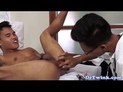 Asian doctor bareback bangs twink