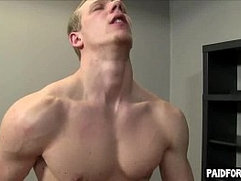 Straight amateur hunk getting fucked in the ass for money