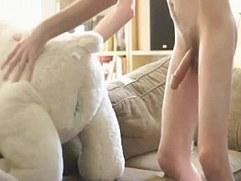 Twink boy fuck plush bear