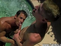 Twink movie of Daddy Poolside Prick Loving