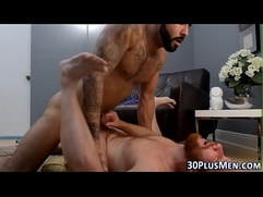 Hairy bear gets rimmed