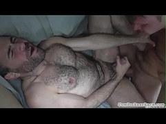 Hairy bear anally slammed bareback