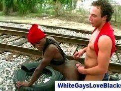 Totally gaysex fucking from a couple of interracial thugs