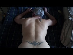 Daddy drains my balls w his butt
