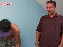 Nude Latino men getting his dick sucked