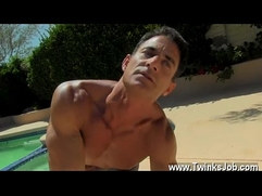 Masturbating to your brothers underwear gay Daddy Poolside Prick