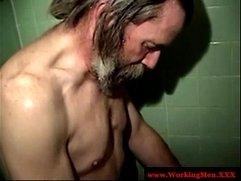 Homeless dudes barebacking in the shower