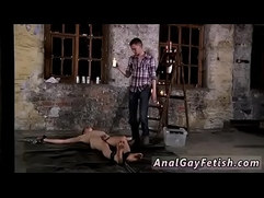 Gay emo twinks bondage Chained to the warehouse floor and unable to