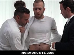 Mormon President Lewis Rough Fucked By Three Priests
