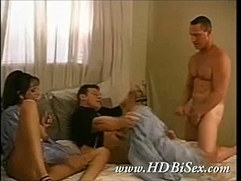 Hardcore Bi Threesome session with hot Florence