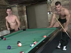 Hunk wins public cock in pool game