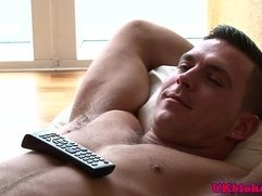 Muscular gay Brit duo shagging at home