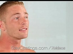 GayCastings First anal fuck facial for hunk newcomer Scott Riley